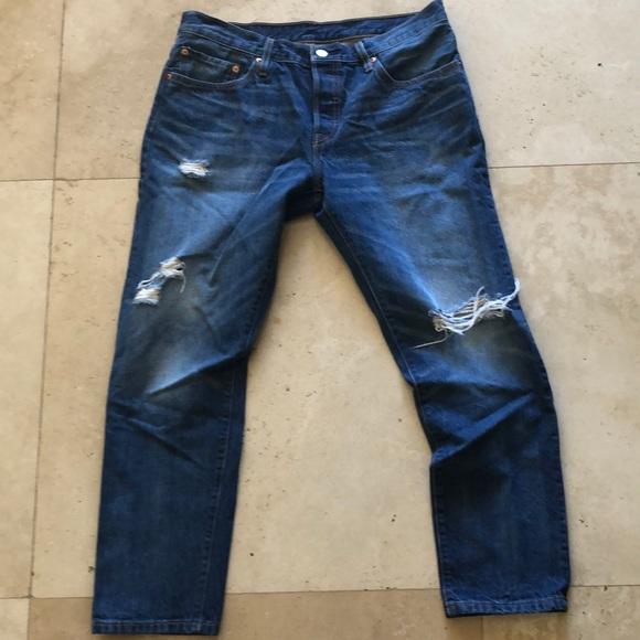 Levi's Denim - Levis cropped 501 Jeans